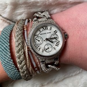 Michael Kors Silver Sparkly Wrist Watch